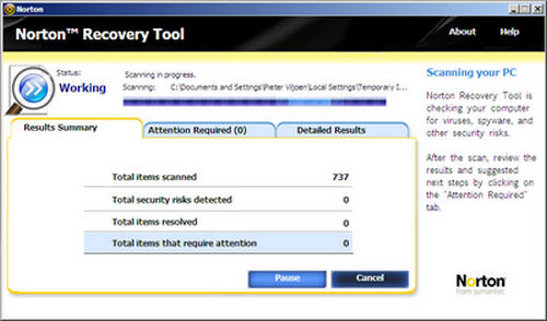 norton recover tool