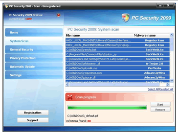 remove pc security 2009