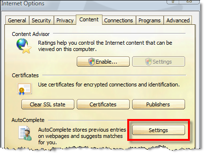disable IE passwords