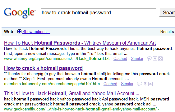 how to crack hotmail password