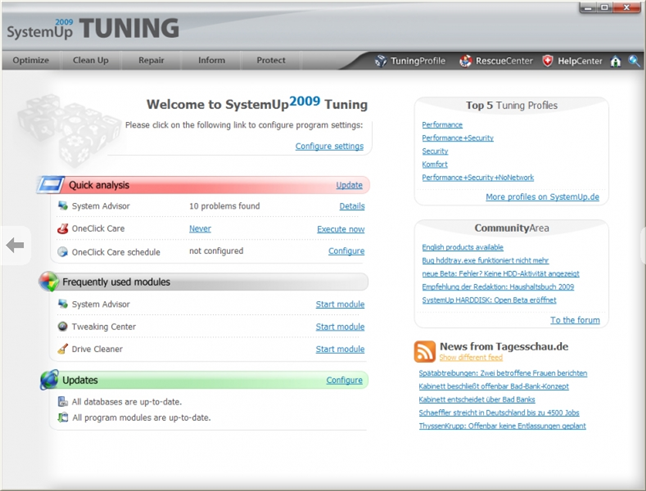 systemup tuning 2009