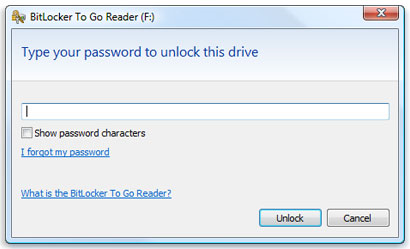 bitlocker to go in vista or xp