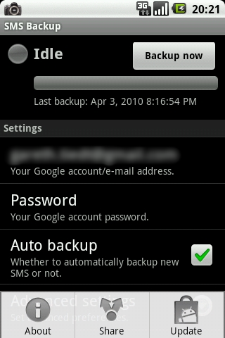 android sms backup restore