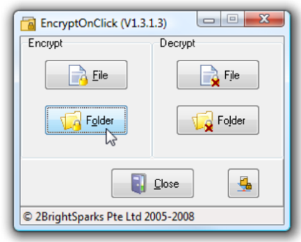 file folder encryption