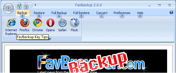 backup restore browser settings