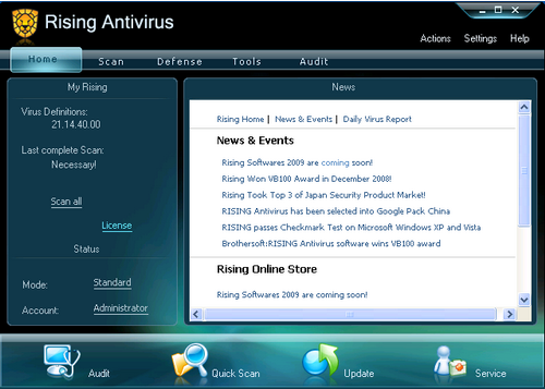 rising antivirus free review